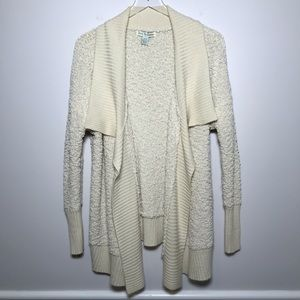 Love By Design Open Front Popcorn Knit Cardigan